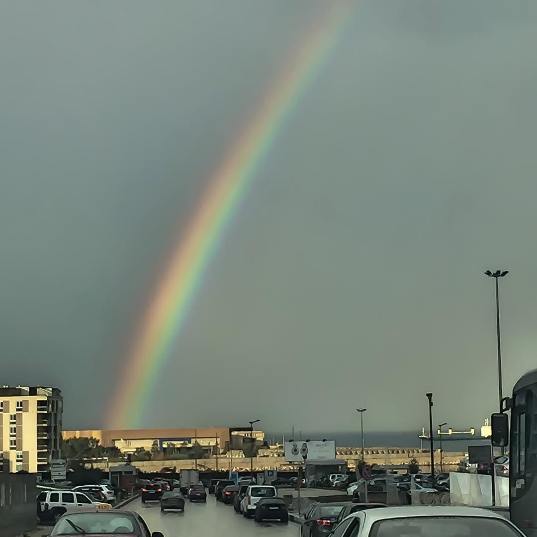 Beirut Downtown Under The Rain Live Rainbow City Rainyday
