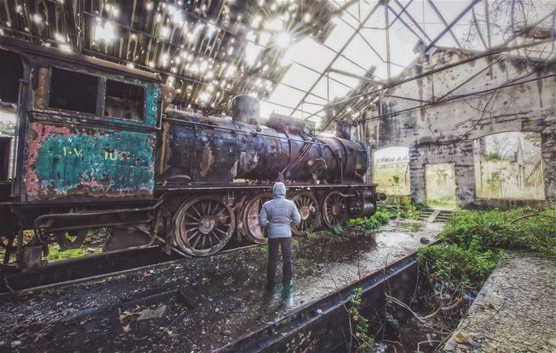 landscape outdoor instaphoto train rail abandoned station sun sunrays...