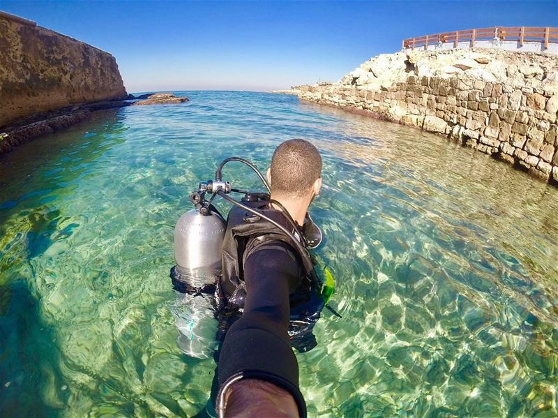 dive diving offshorediver gopro goprohero whatsuplebanon goprooftheday... (Amchit Jbeil)