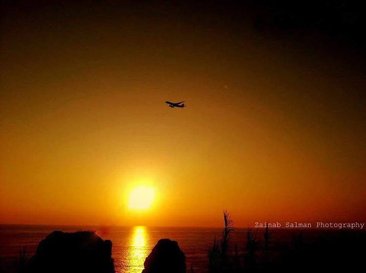 In love with sunsets😊 lebanon  photography  travel  nature  sun  sunset... (Raushe Beirut)