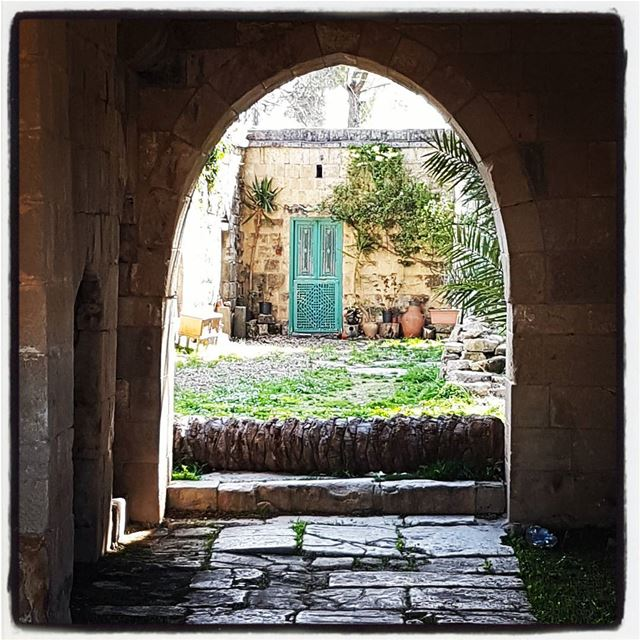 The green door inside the palace of Baadaran  tourlebanon  tourleb ... (Baadarâne, Mont-Liban, Lebanon)