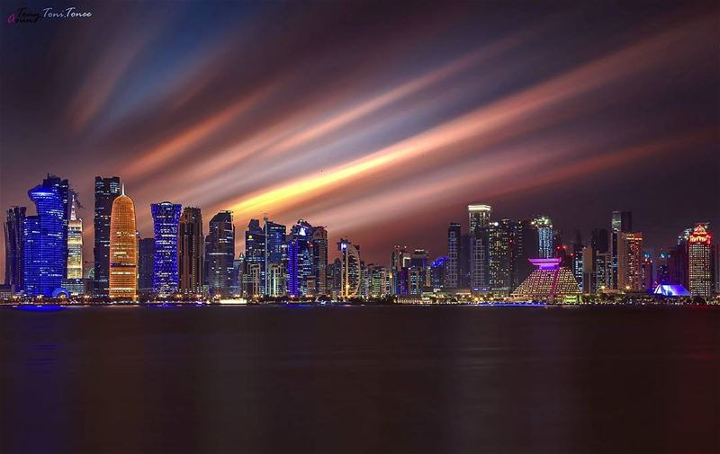 Live for today!!! We will dream tomorrow...  doha  qatar  reflection ... (Doha Corniche)