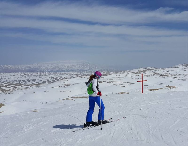 The endless white desert lebanon  naturelovers  mountains  ski ...
