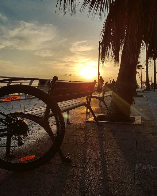 A well deserved relaxing ride after a very hectic busy day.. 🌅Making it... (Beirut, Lebanon)