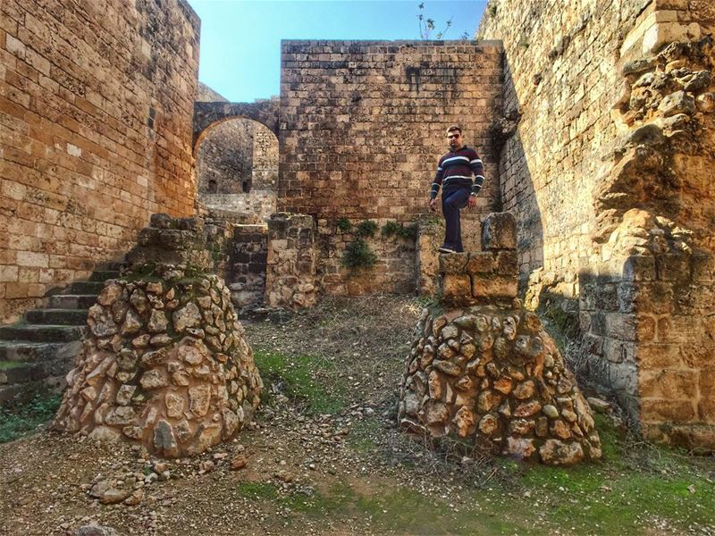 It is an amazing feeling when you stand in a place makes you feel of your... (Romanian Castle - Tripoli)