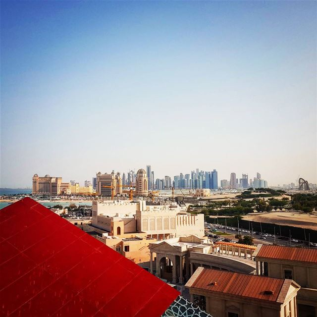This is another stunning view from the top of 50 m height... myphoto ... (Katara Cultural Village)