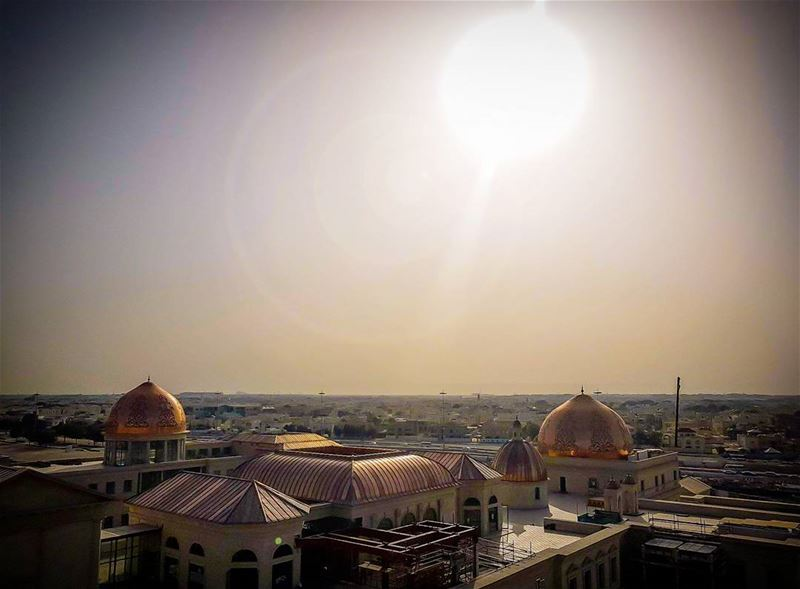 From a 50 m height I cached the beautiful sunset shot... myphoto ... (Katara Cultural Village)