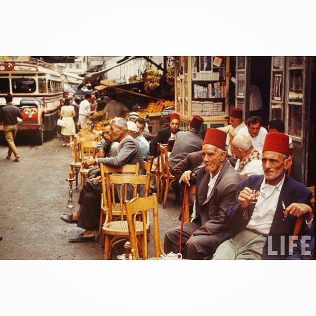Good morning from Beirut A Cafe Near Martyrs Square in 1966 .