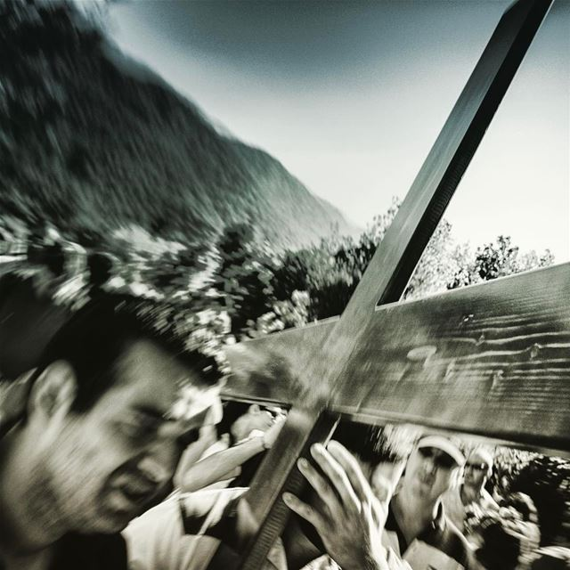 Via Crucis. viacrucis is an old tradition in my hometown. A big  heavy ...