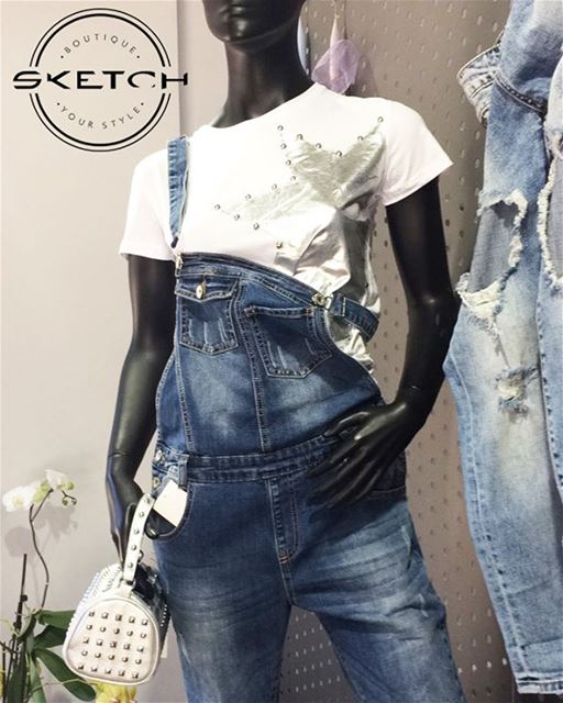 Overall denim DailySketchLook 44....  shop  shopping  highquality ...