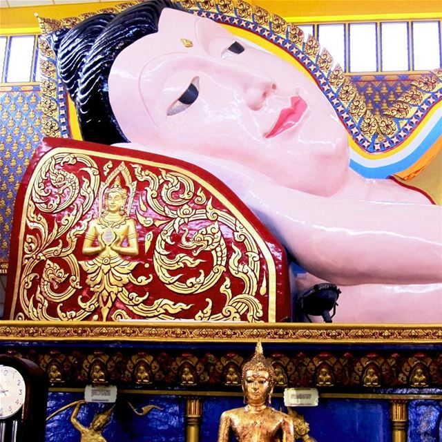 Reclining Buddha... Passing into Nirvana... With a peaceful Smile... the... (Penang, Malaysia)
