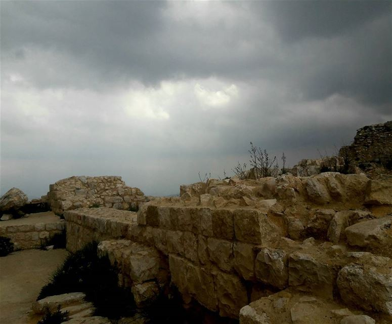 Light can always find its way in.  beaufort  castle  shkeef  nabatiyeh ... (Beaufort Castle, Lebanon)