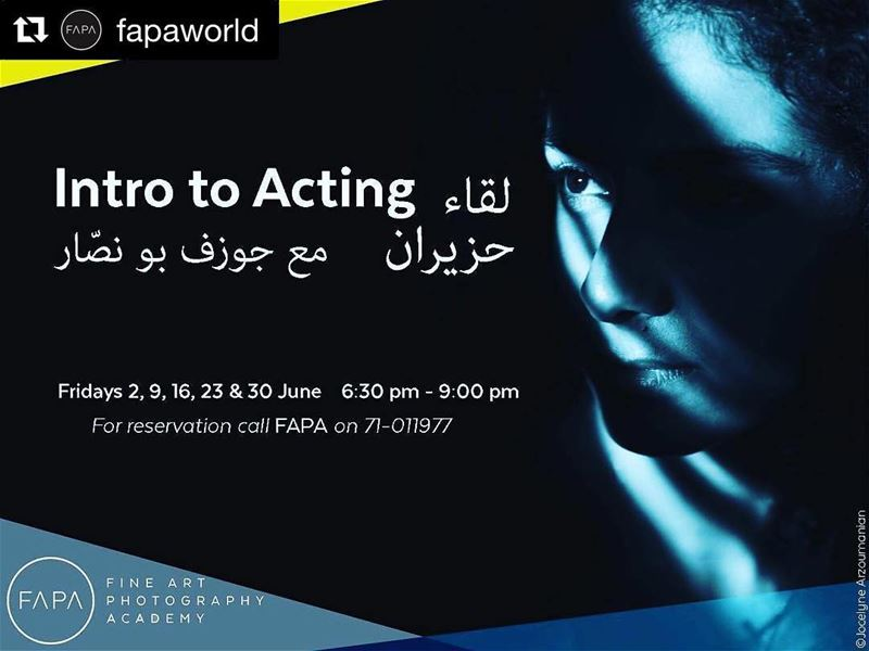 fapa  accademy  acting  interact  introtoacting  learn  fun  course ... (FAPA - Fine Art Photography Academy)
