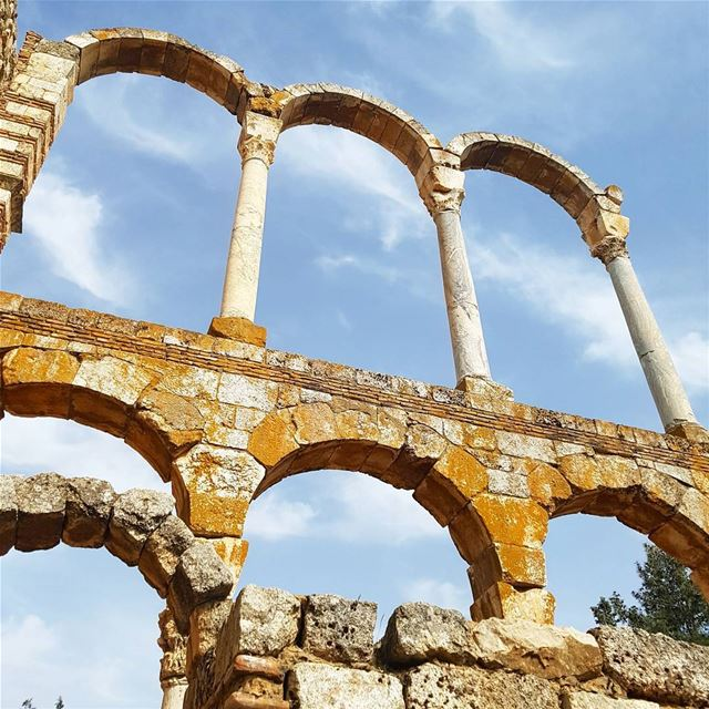 The ruins citadel of Anjar, built during the Umayyad period under Caliph... (Umayyad Anjar Ruins)