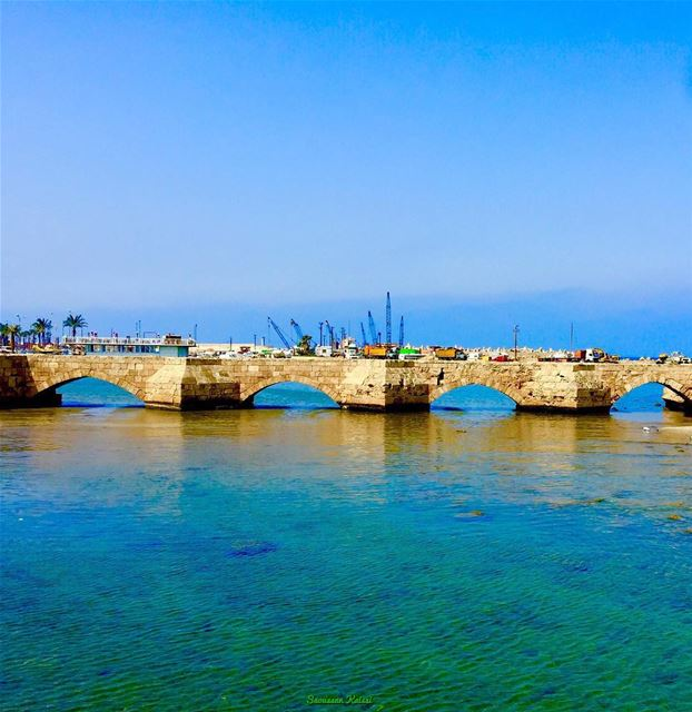 old  nostalgia  heritage  bridge  saidacastle  saida  lebanon  sea...