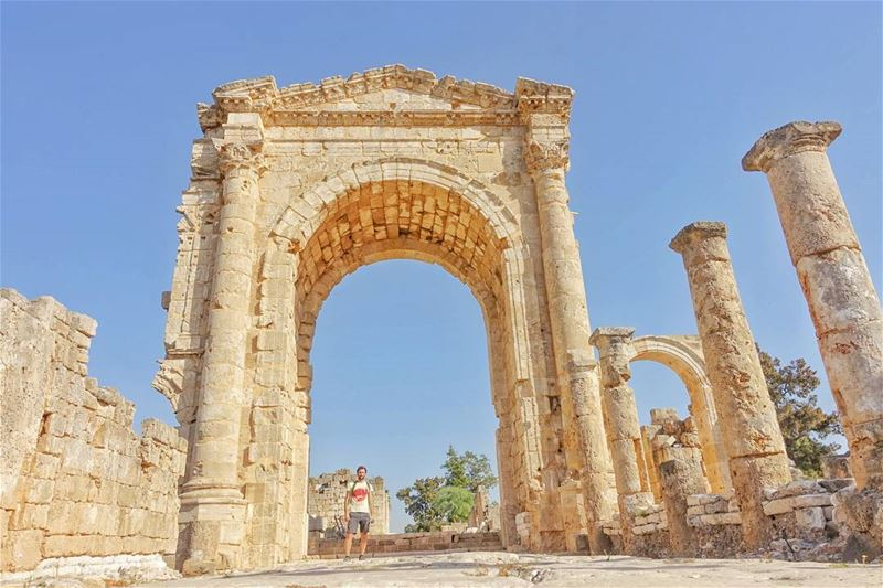 This massive triumphal arch, was one of the gate ways into Tyre (or Tyros)... (Tyre, Lebanon)