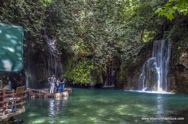 The Famous Blue Water Falls of Baakline, Chouf