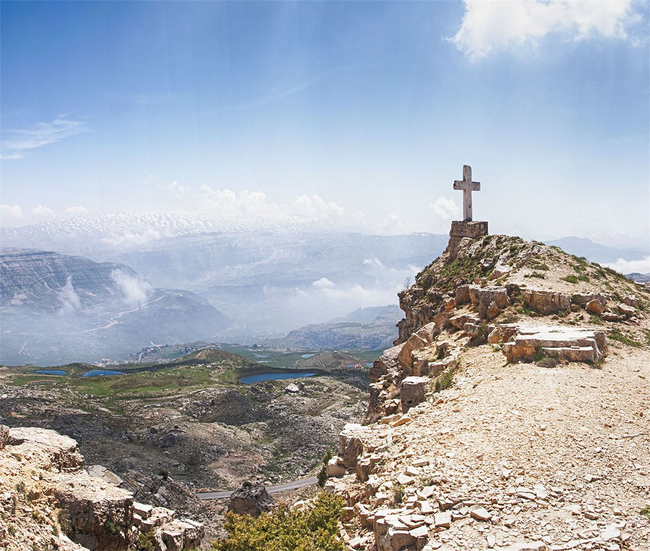 360 View Taken from the Top of the Mountain Near the Cross (Saydet El Qarn, Laklouk - Akoura)