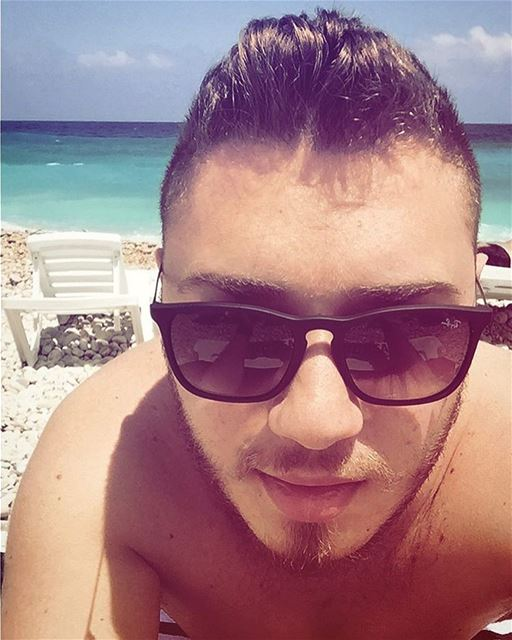 Beach Time 😎.. tan  summer  selfie  summer2017  blond  batroun ... (White Beach)