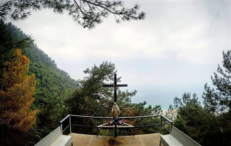 hiking  DarbElSama  Pray  Cross  VirginMary  Nature  SeaView  Jounieh ... (Harisa, Mont-Liban, Lebanon)