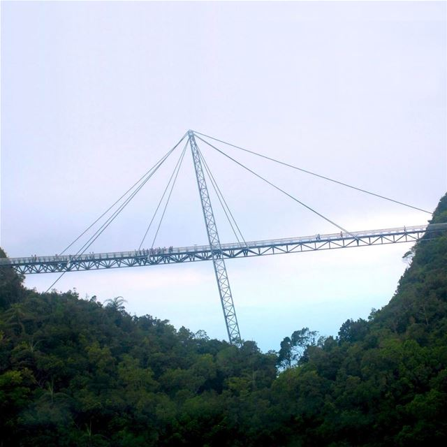 The bridge, had the funniest story there: that couple I told u about in... (Langkawi Sky Bridge)