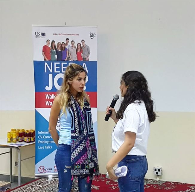 Glad we took part of the Job Fair @usjliban. Too many dreams, too much...