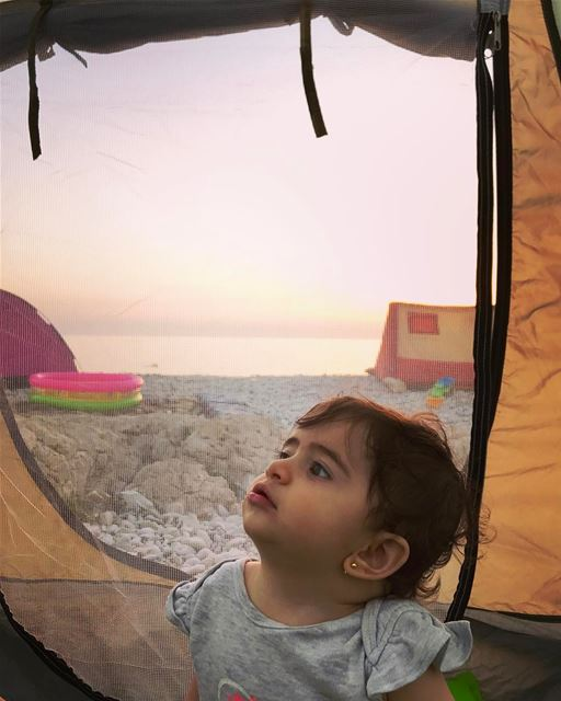Good morning from Tati 👼🏻! She like camping...... livelovelife ... (Kfar Abida)
