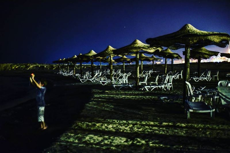 Nights at the beaches ... lebanon  tyr  ig_lebanon  nightbythesea ... (Rest House Tyr Hotel & Resort)