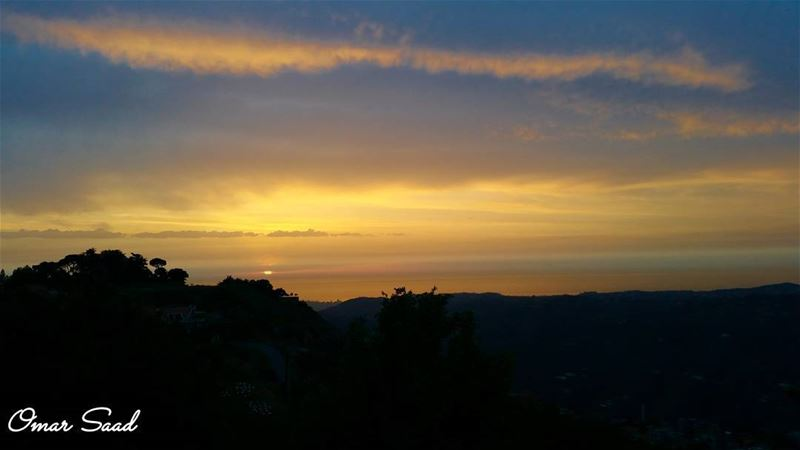 Beautiful sunset from  sawfar  mountlebanon  sunset  mountains  sky ... (Sawfar, Mont-Liban, Lebanon)