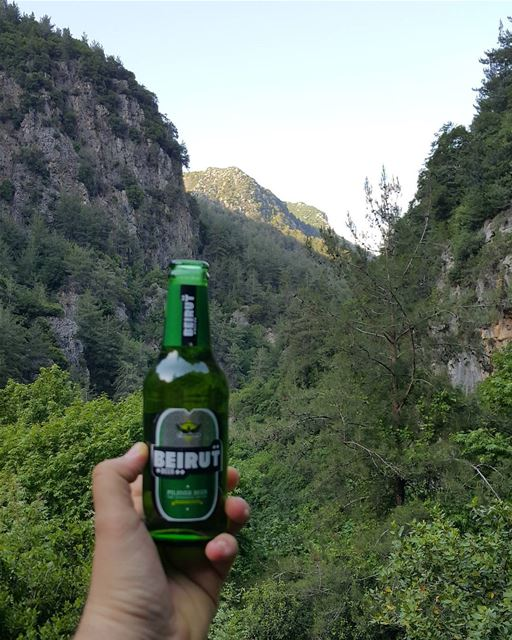 Always bring a cold beer when you go deep into the jungle That's how we...