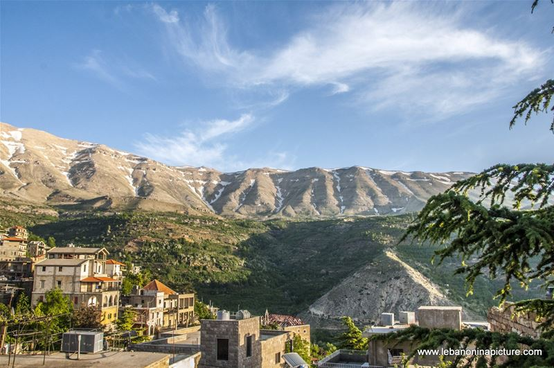 Beautiful View of the Northern Mountains from Saint Charbel's Musuem (Bekaakafra, North Lebanon)