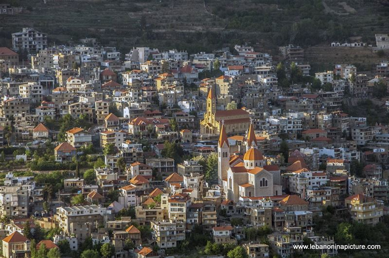 A Beautiful Picture of Bcharre taken from Saint Charbel's Church (Bekaakafra, North Lebanon)