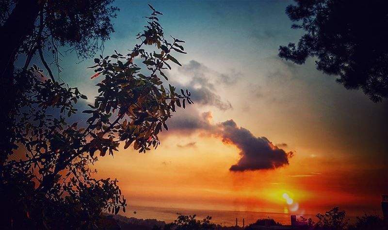 First i thought that the  clouds took that shape upon sunset, so i took... (Ain el-Rihaneh)