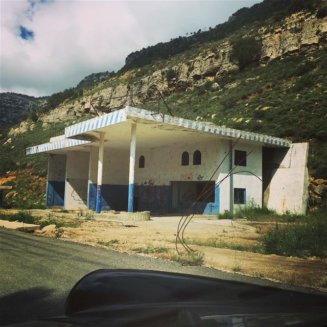 abandonedplaces  petrolstation  chouf  mountains shot while driving ...