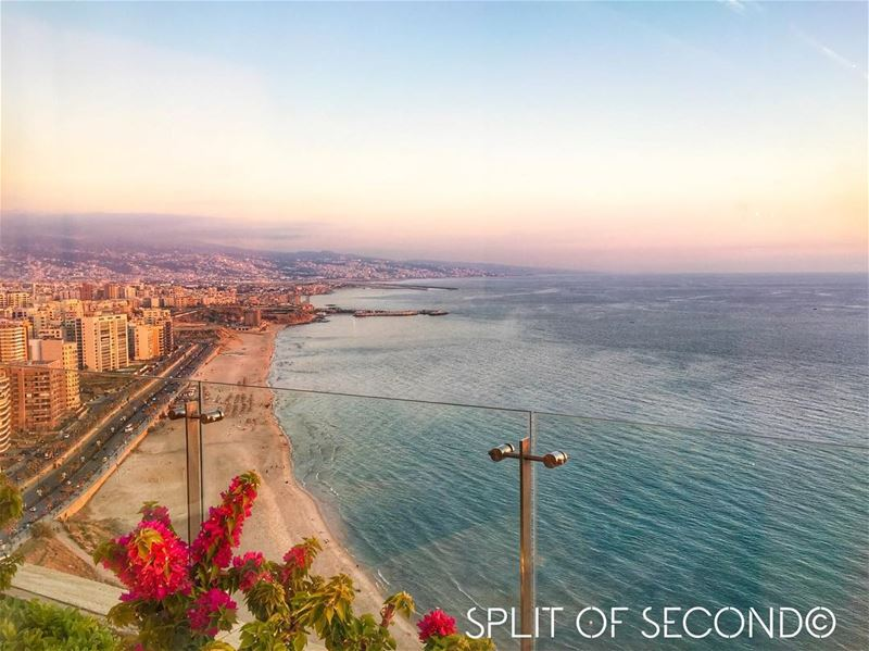 Wishing you a blessed holy month. with This Beautiful sunset view  beirut ... (Ramlet El Bayda)
