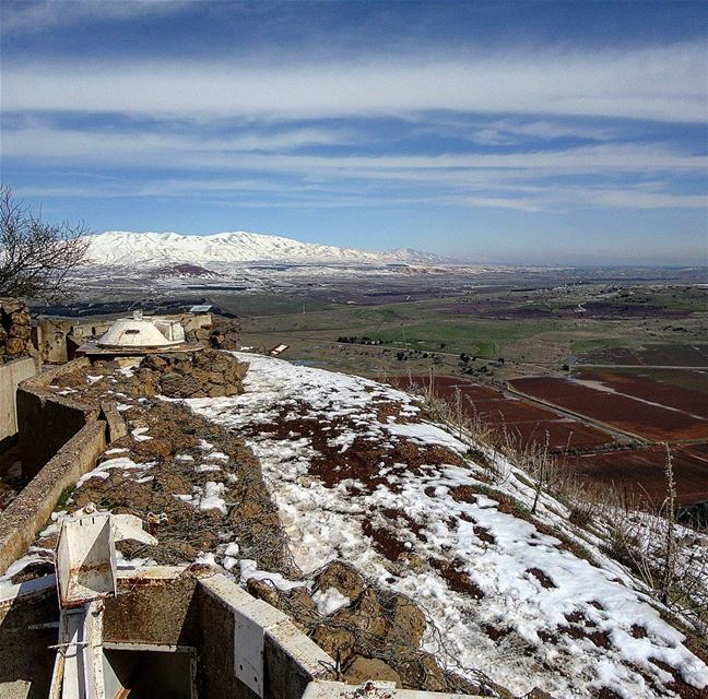 ●○● ... from the Israeli occupied Golan Heights looking into Syria. The... (Israel/Lebanon/Syria Border)