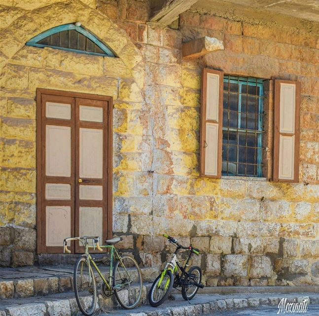 Good Morning. 🌷_________________________  bicycle old heritage... (Douma, Liban-Nord, Lebanon)