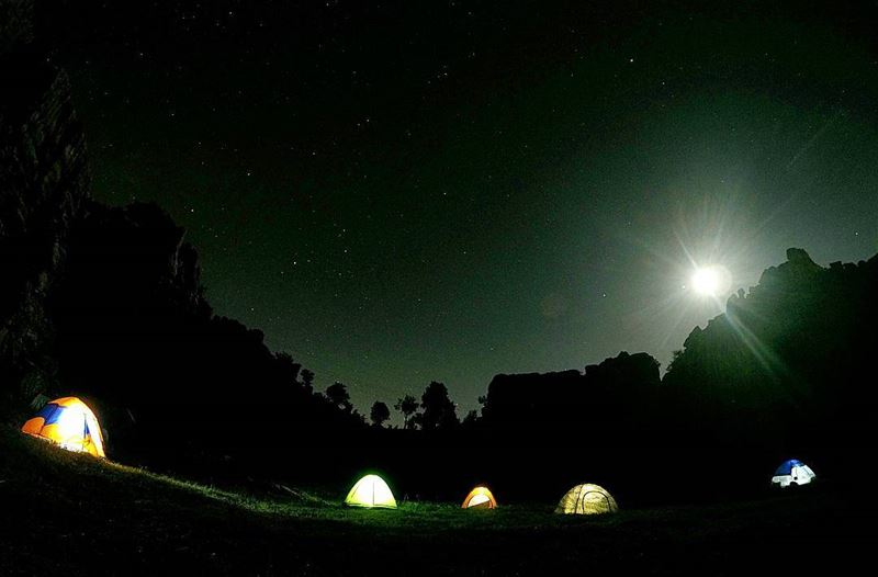 Camping With The  Pros ⛺ SkylineExtremeSports  SkyWorldLebanonUnder the... (Majdel Tarchich)