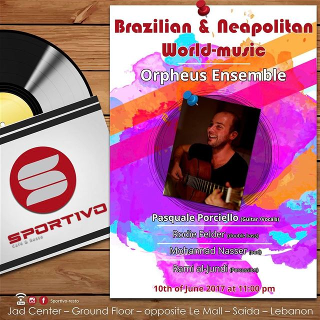 Pasquale Porciello is going to play Brazilian and Neapolitan world music 🎶 (Sportivo-resto)