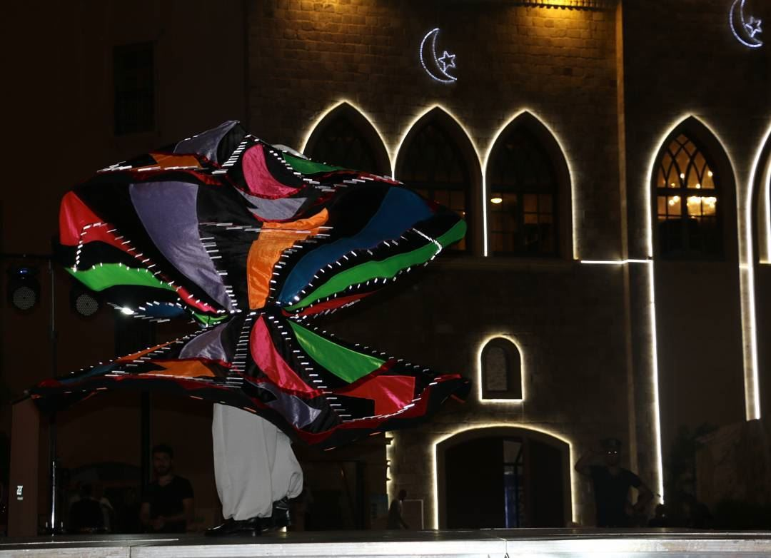 Colour and Light Fest!  darwish  sufi  lebanesestyle  dancer  lightshow ...