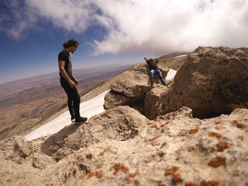 Sky above our heads, rocks beneath our feet, life is good. goproshots ... (Qurnat as Sawda')
