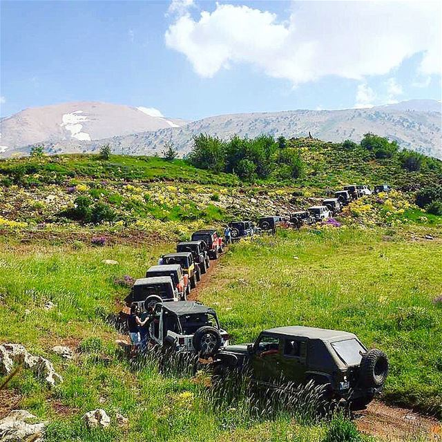A ride like no other 🚙 @seven_slot_jeep_lebanon  livelovehiking  trail ... (Akkar)