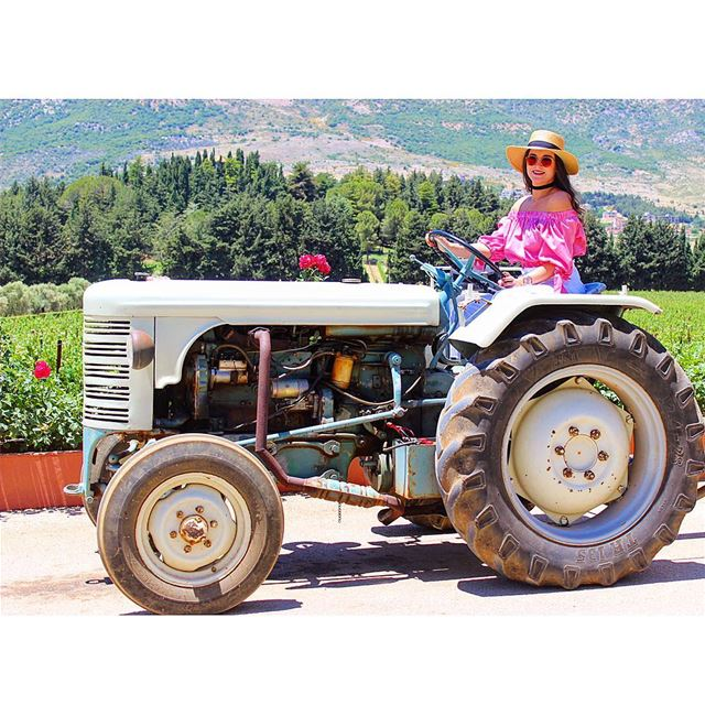 My new ride 🚜  ChateauKefraya Vineyards Bekaavalley Westbekaa...