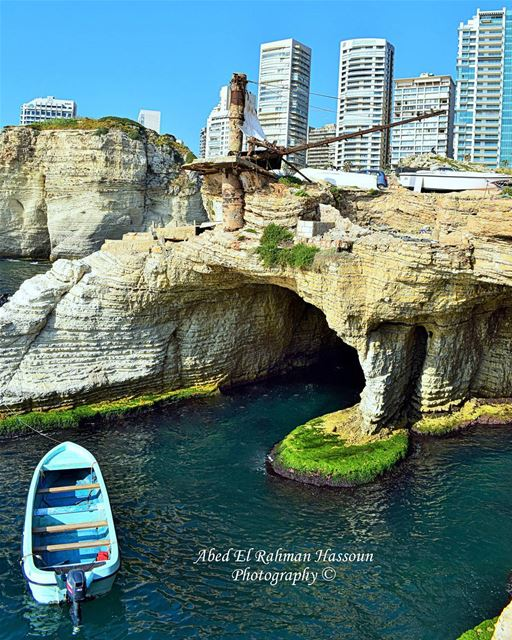 The hidden gems of Beirut 😮 الدالية  Beyrouth   Mediterranean  Sea ... (Beirut, Lebanon)