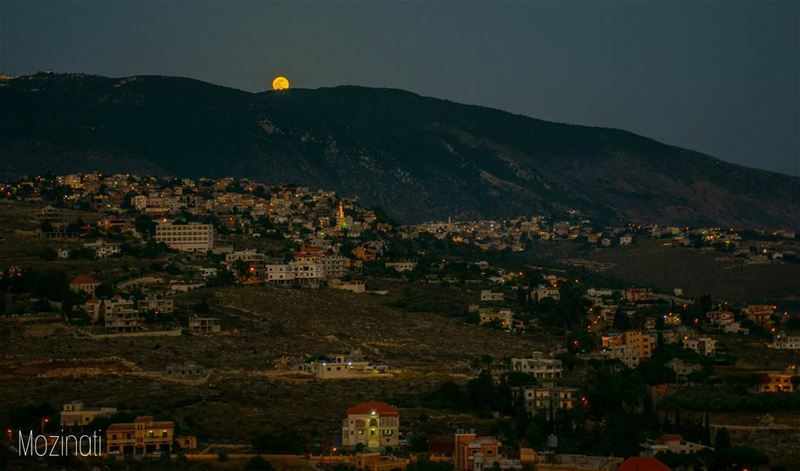 moon moonlovers fullmoon moonlight naturephotography nature naturelover... (Hoûmîne El Faouqa, Al Janub, Lebanon)
