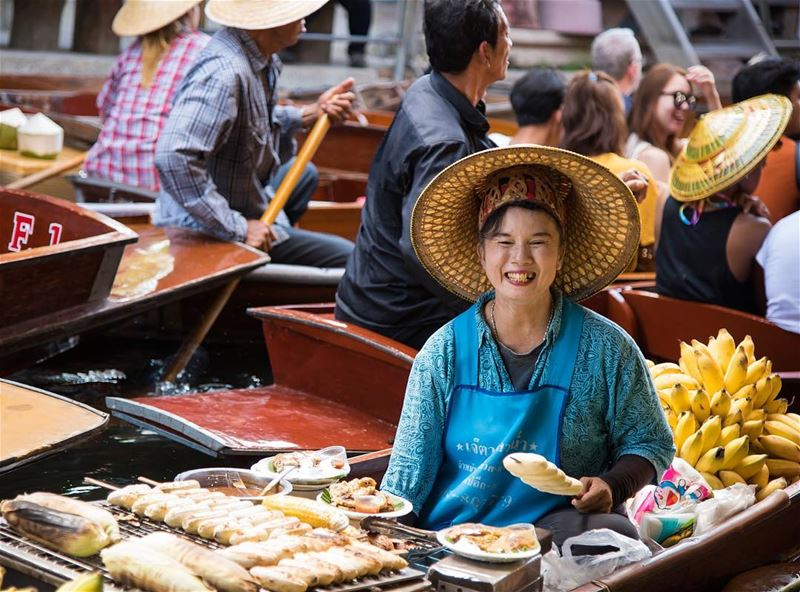 The cheerful face of the market place ... shot in  thailand  bangkok ...