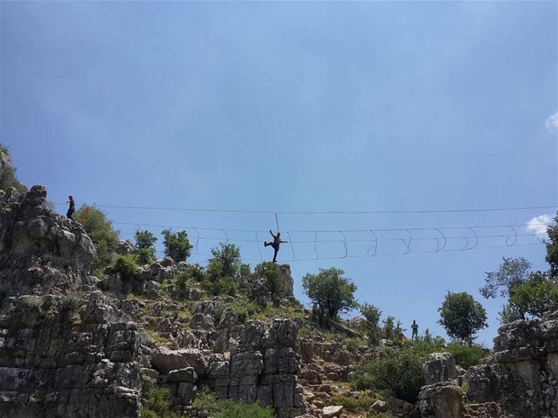 Life begins where  fear end...  skylineextremesports  skyworldlebanon ...