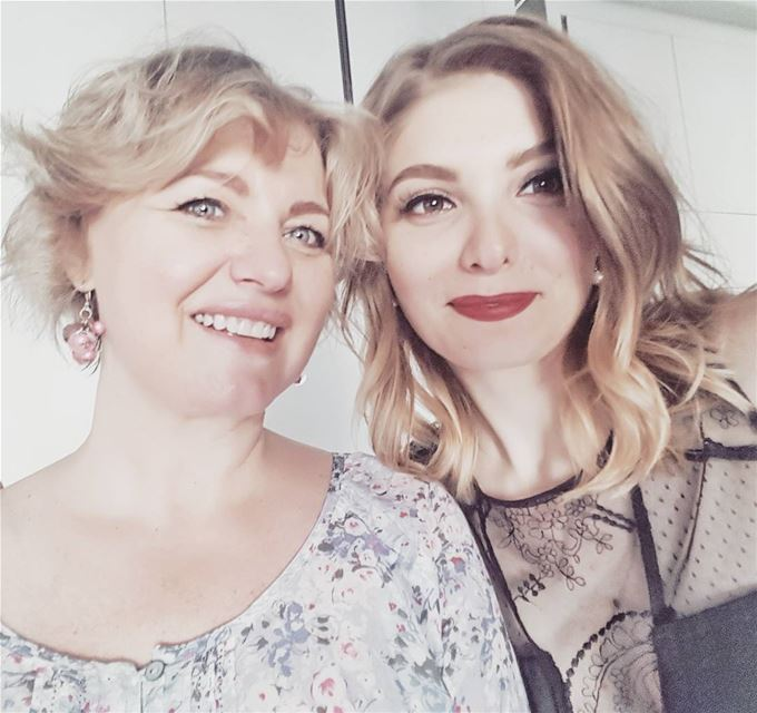 •With my Beautiful Mom•  family  photo  light  colors  2blondes ...