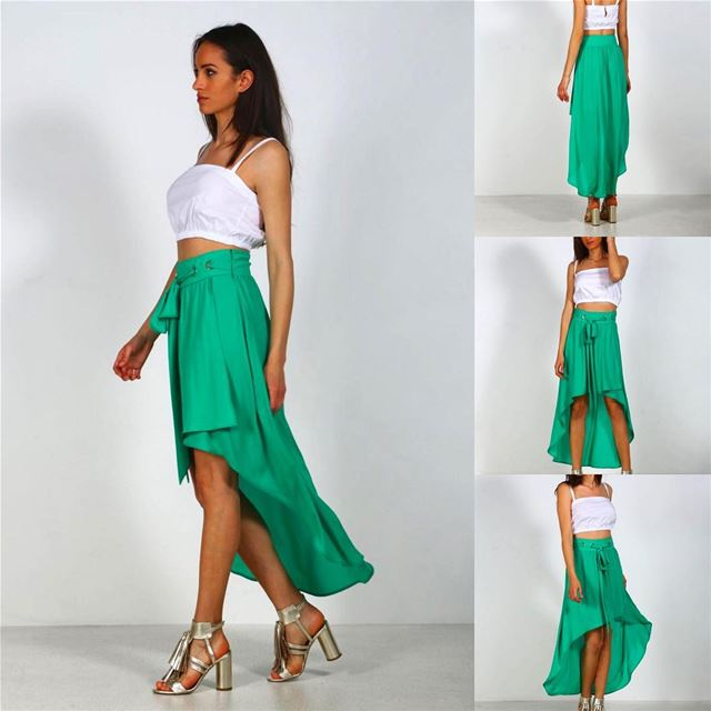 New arrivals green skirt 💚 by @fashionimperial .... shopping  italian... (El Mtaïleb, Mont-Liban, Lebanon)