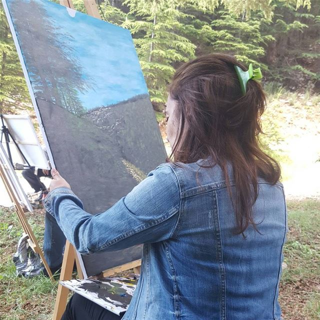 nature  artist  art  shoufbiospherereserve  painting  paint... (Cedars Ground Campsite)